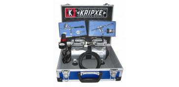 Pistolas de pintar neumaticas - KIT PROFESIONAL AEROGRAFO REF: 015101-3700
