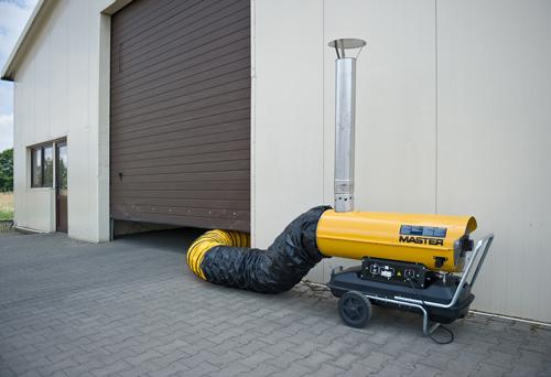 calentador de gasoil con chimenea master bv290