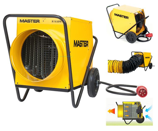 Calentadores master con funcionamiento electrico gran caudal de aire