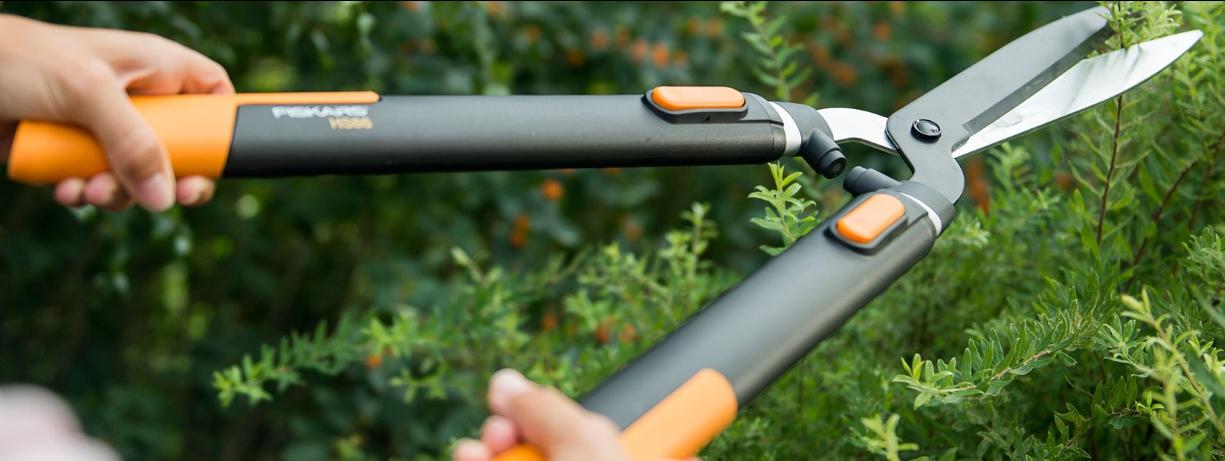 Tijeras cortasetos para la poda y el diseño de todo tipo de arbustos