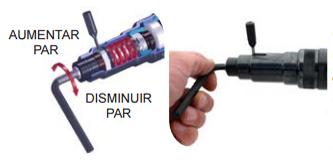 Embrague deslizante con regulacion exterior por llave allen y vastago de atornilladores neumaticos